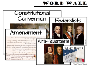 Word Wall for Constitution Lesson Plans