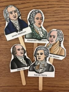 stick puppets to teach constitution history