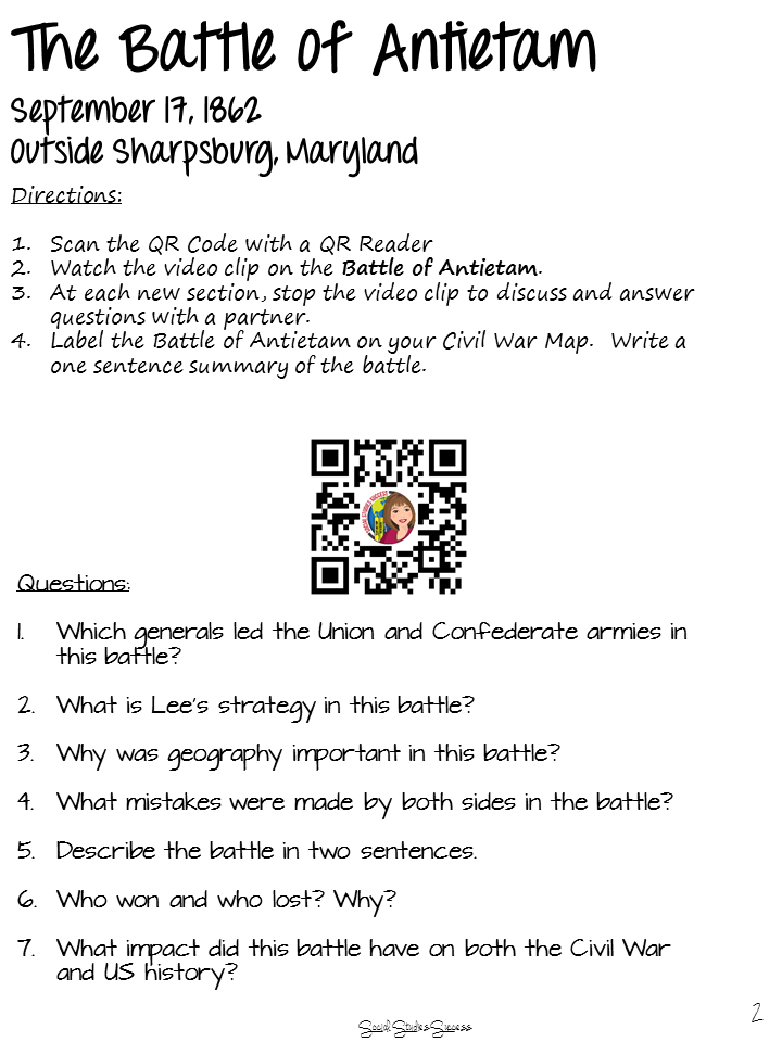 QR Codes in Social Studies | Social Studies Success